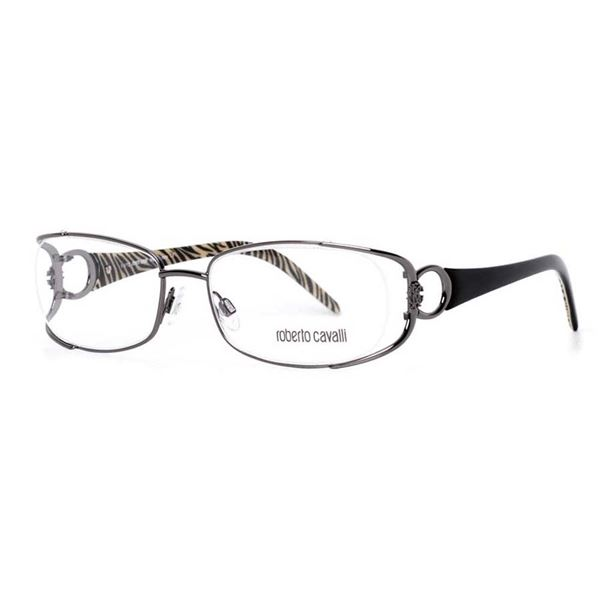ROBERTO CAVALLI DESIGNER READING GLASSES RC0547 RUTHENIUM BLACK (012) LENS SIZE 53-17-135MM