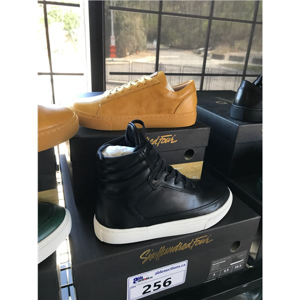 2 SIX HUNDRED FOUR LEATHER UNISEX SHOES SIZE 4 MEN'S IN SMOOTH MIMOSA & SMOOTH RUNWAY $300 AND