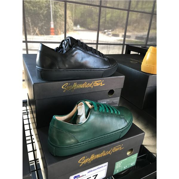 2 SIX HUNDRED FOUR LEATHER UNISEX SHOES SIZE 4 MEN'S IN SMOOTH RUNWAY & SMOOTH IVY $300