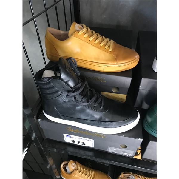 2 SIX HUNDRED FOUR LEATHER UNISEX SHOES SIZE 10 MEN'S IN SMOOTH MIMOSA & SMOOTH RUNWAY $300 AND