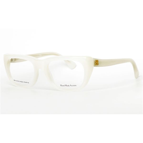 BALENCIAGA PARIS DESIGNER READING GLASSES BAL 0145 - MILK (K6C) LENS SIZE 50-18-140MM