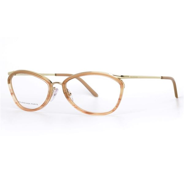 BALENCIAGA PARIS DESIGNER READING GLASSES  BAL 0121 - LILAC BEIGE GOLD (VB4) LENS SIZE 54-17-135MM