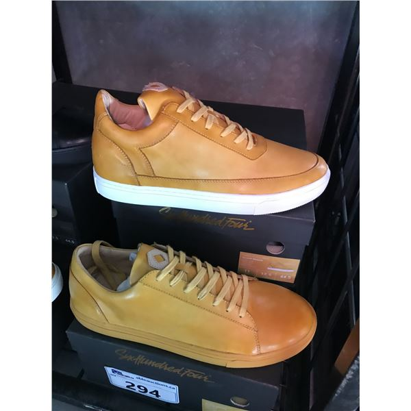 2 SIX HUNDRED FOUR LEATHER UNISEX SHOES SIZE 11 MEN'S IN SMOOTH MIMOSA $300 RETAIL VALUE EACH