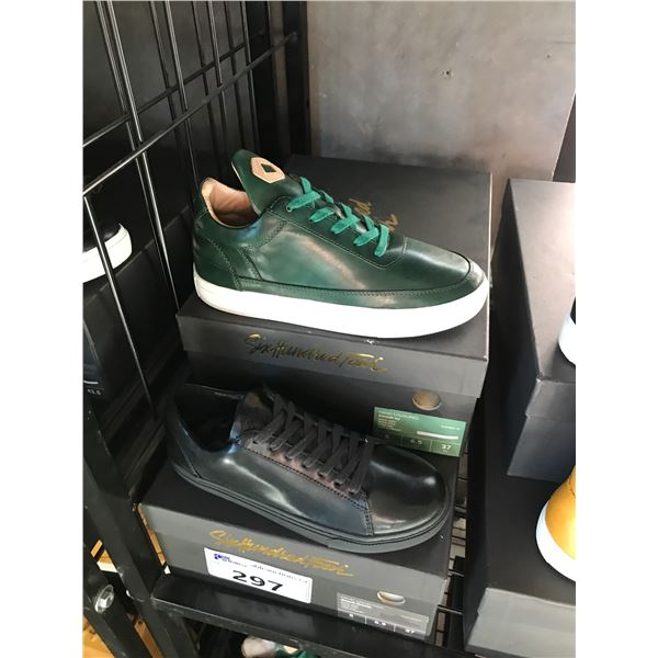 2 SIX HUNDRED FOUR LEATHER UNISEX SHOES SIZE 5 MEN'S IN SMOOTH MIMOSA & SMOOTH IVY $300
