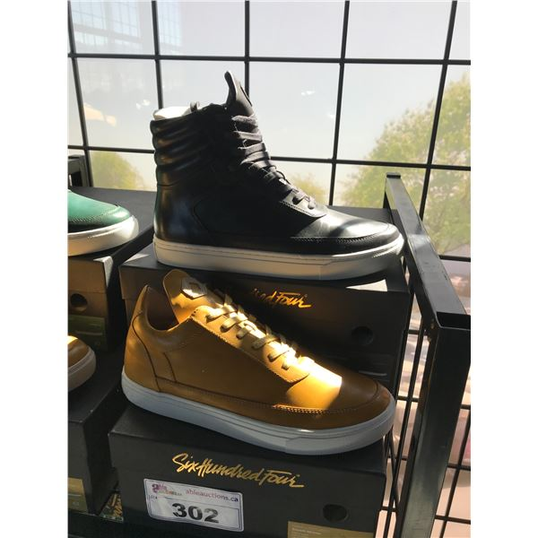 2 SIX HUNDRED FOUR LEATHER UNISEX SHOES SIZE 9 MEN'S IN SMOOTH MIMOSA & SMOOTH RUNWAY $300 AND