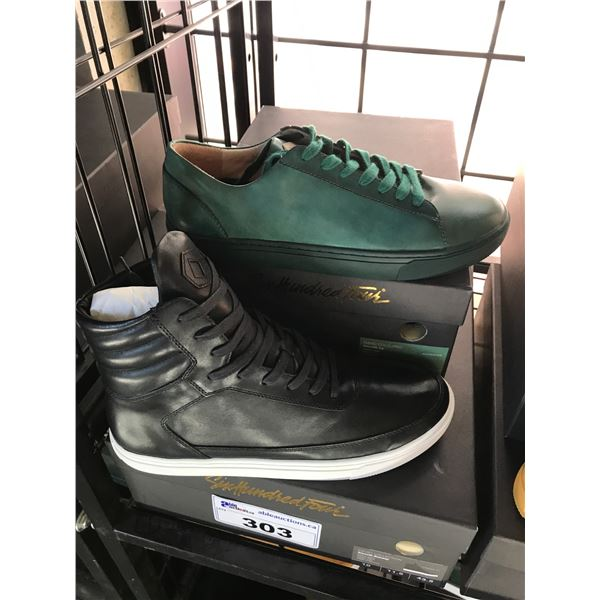 2 SIX HUNDRED FOUR LEATHER UNISEX SHOES SIZE 10 MEN'S IN SMOOTH RUNWAY & SMOOTH IVY $300
