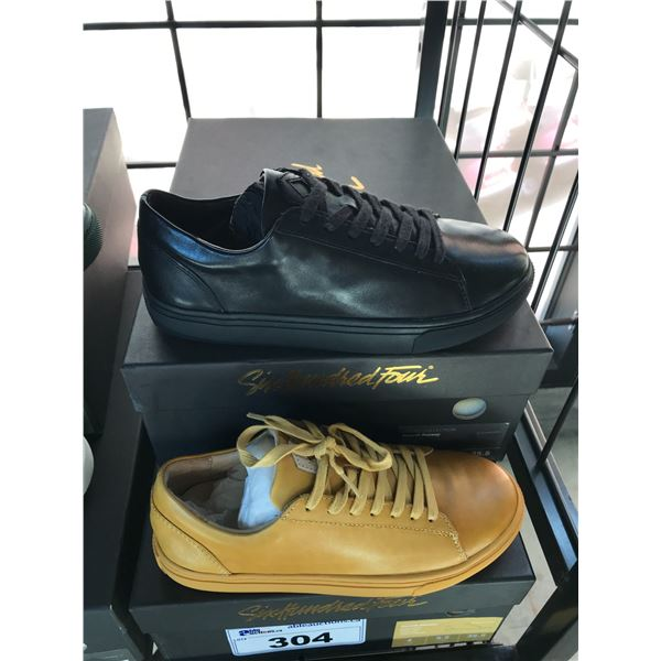 2 SIX HUNDRED FOUR LEATHER UNISEX SHOES SIZE 4 MEN'S IN SMOOTH MIMOSA & SMOOTH RUNWAY $300