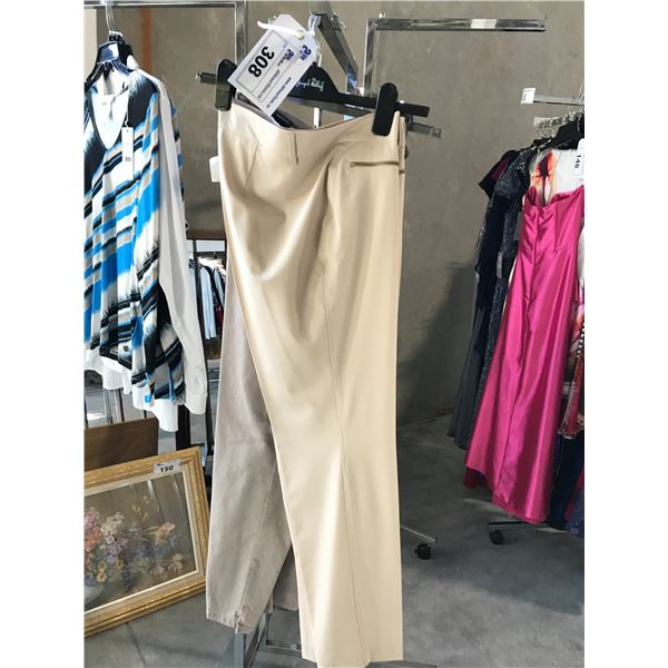 2 PAIRS OF DESIGNER PANTS INCLUDING BETTY BARCLAY AND CAPALUA SIZE 12