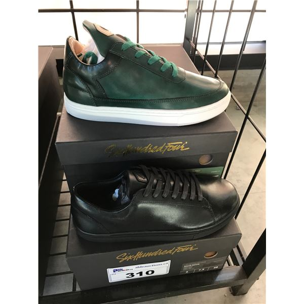 2 SIX HUNDRED FOUR LEATHER UNISEX SHOES SIZE 6 MEN'S IN SMOOTH RUNWAY & SMOOTH IVY $300