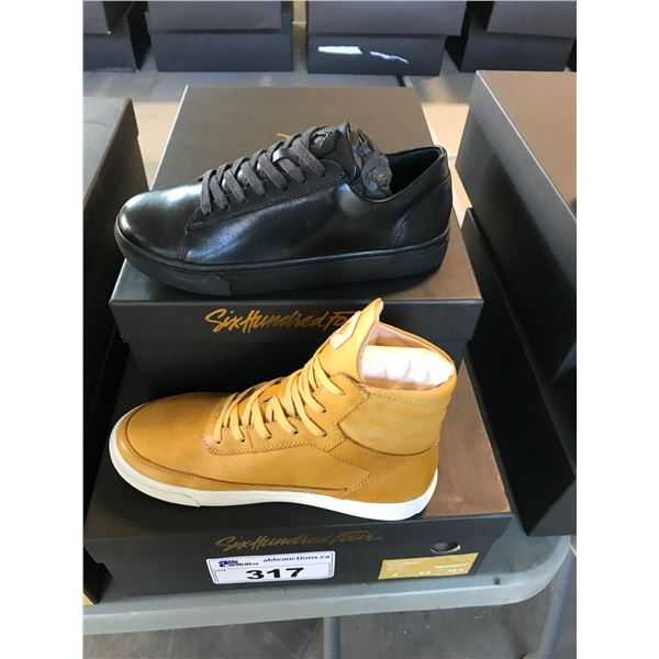 2 SIX HUNDRED FOUR LEATHER UNISEX SHOES SIZE 4 MEN'S IN SMOOTH RUNWAY & MIMOSA  $300 AND