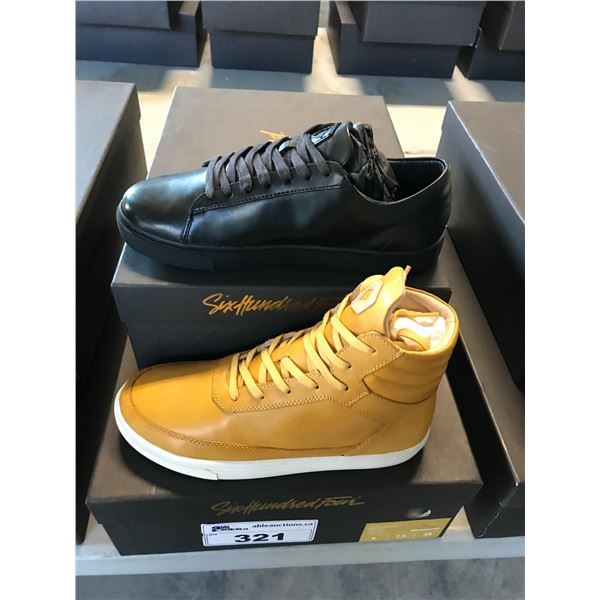 2 SIX HUNDRED FOUR LEATHER UNISEX SHOES SIZE 6 MEN'S IN SMOOTH RUNWAY & SMOOTH MIMOSA $300