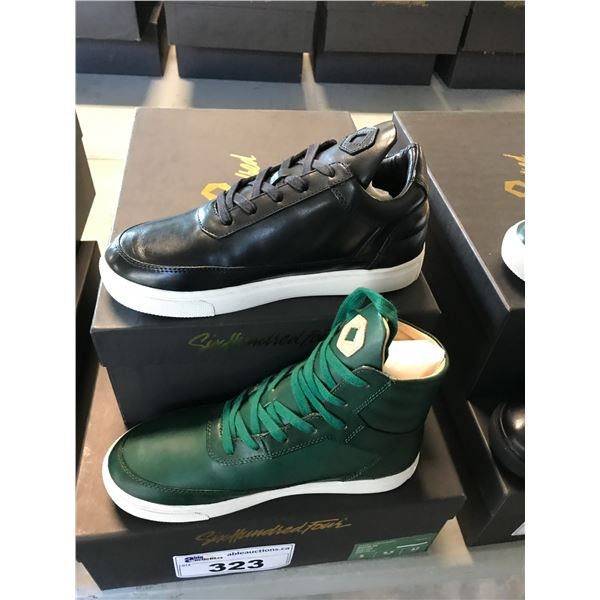 2 SIX HUNDRED FOUR LEATHER UNISEX SHOES SIZE 5 MEN'S IN SMOOTH RUNWAY & SMOOTH IVY $300 AND