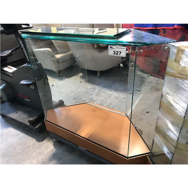 """MAPLE AND GLASS DISPLAY UNITS 36""""W X 36""""H"""