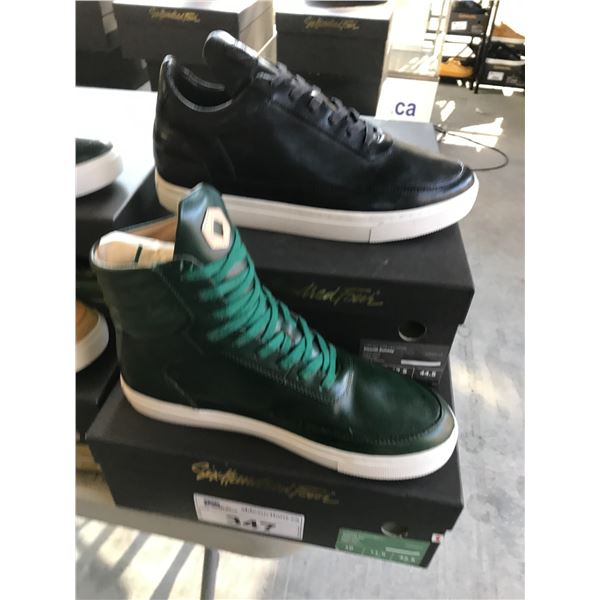 2 SIX HUNDRED FOUR LEATHER UNISEX SHOES SIZE 10 AND  11 MEN'S IN SMOOTH IVY & SMOOTH RUNWAY $300