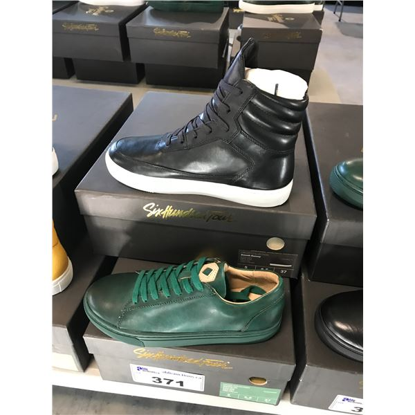 2 SIX HUNDRED FOUR LEATHER UNISEX SHOES SIZE 5 MEN'S IN SMOOTH IVY & SMOOTH RUNWAY $300