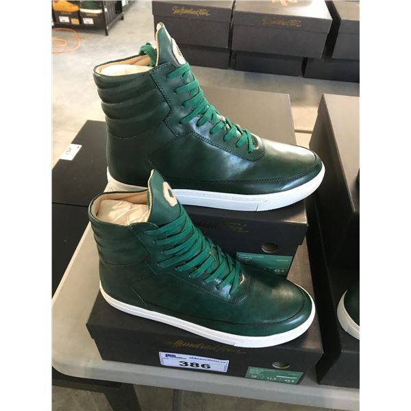 2 SIX HUNDRED FOUR LEATHER UNISEX SHOES SIZE 10 MEN'S IN SMOOTH IVY $350 RETAIL VALUE EACH