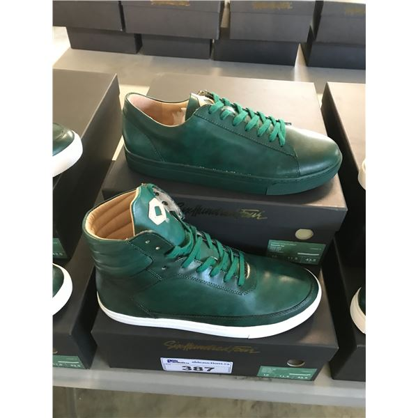 2 SIX HUNDRED FOUR LEATHER UNISEX SHOES SIZE 10 MEN'S IN SMOOTH IVY $300 AND $350