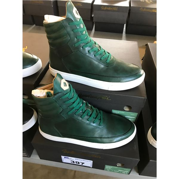 2 SIX HUNDRED FOUR LEATHER UNISEX SHOES SIZE 10 MEN'S IN SMOOTH IVY $350 RETAIL
