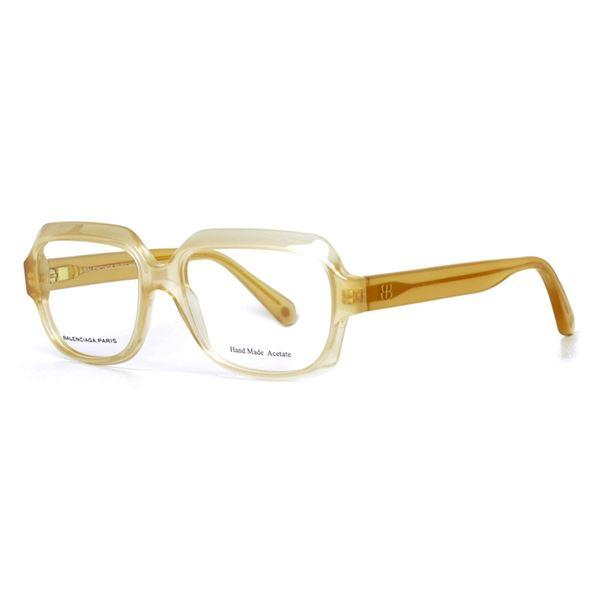 BALENCIAGA PARIS DESIGNER READING GLASSES BAL0113 - HONEY (QP8) LENS SIZE 52-16-135MM