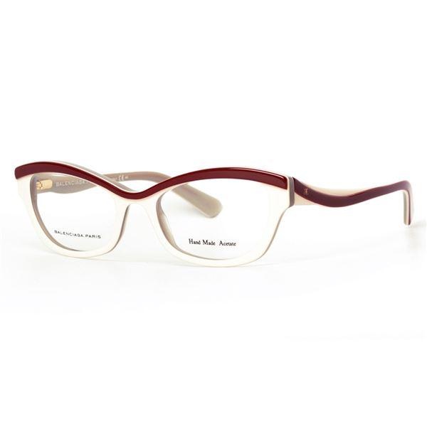 BALENCIAGA PARIS DESIGNER READING GLASSES BAL 0089 - RED WHITE GREY (VDD) LENS SIZE 51-19-140MM