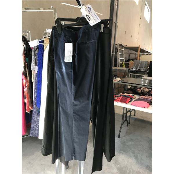 3 PAIRS OF DESIGNER PANTS BY BYLISE, BETTY BARCLAY AND BARBARA LEBEC SIZES LARGE, 14 AND 16