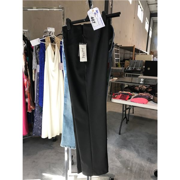 2 PAIRS OF LADIES DESIGNER PANTS BY JOSEPH RIBKOFF AND CAMBIO SIZE 8 AND 10