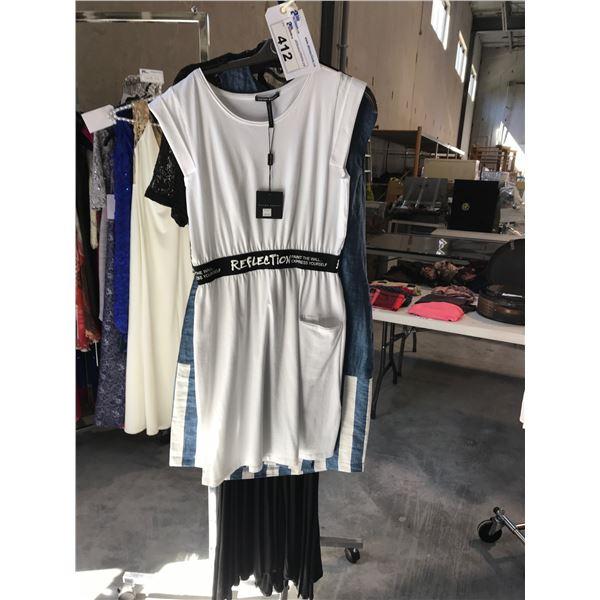 3 LADIES DESIGNER DRESSES BY SARAH PACINI, VALENTINAS AND TARA VAO SIZE 1, SMALL AND XSMALL