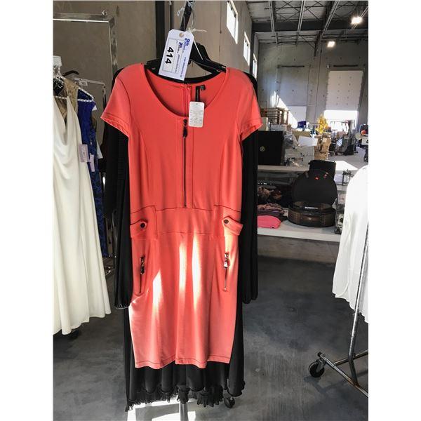3 DESIGNER DRESSES BY DOLCA VITA, NOUGAT LONDON AND LEO AND UGO SIZE 4