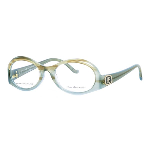 BALENCIAGA PARIS DESIGNER READING GLASSES BAL 0117 - AZURE BROWN (WLH) LENS SIZE 50-18-135MM