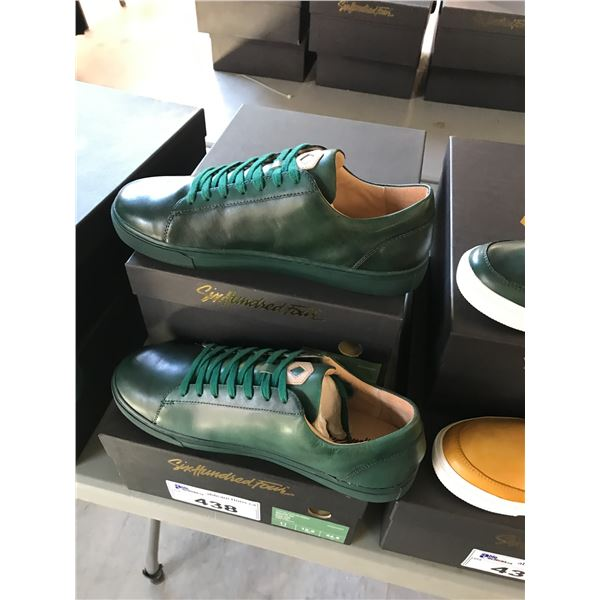 2 SIX HUNDRED FOUR LEATHER UNISEX SHOES SIZE 11 MEN'S IN SMOOTH IVY $300
