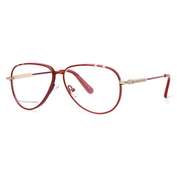 BALENCIAGA PARIS DESIGNER READING GLASSES BAL 0092 RED (UD0) LENS SIZE 54-12-140MM