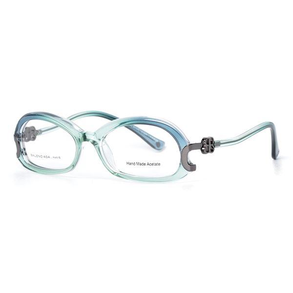 BALENCIAGA PARIS DESIGNER READING GLASSES BAL 0044 BLUE GREEN (AO2) LENS SIZE 51-17-140MM