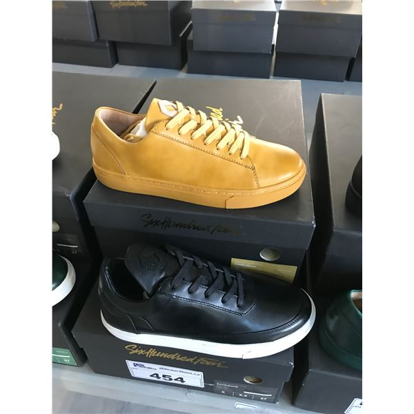 2 SIX HUNDRED FOUR LEATHER UNISEX SHOES SIZE 4 MEN'S IN SMOOTH MIMOSA & SMOOTH RUNWAY $300 RETAIL