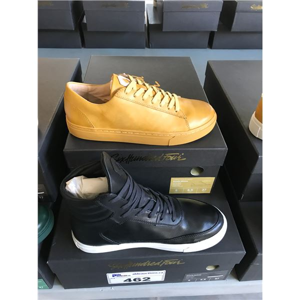 2 SIX HUNDRED FOUR LEATHER UNISEX SHOES SIZE 5 MEN'S IN SMOOTH MIMOSA & SMOOTH RUNWAY $300 AND