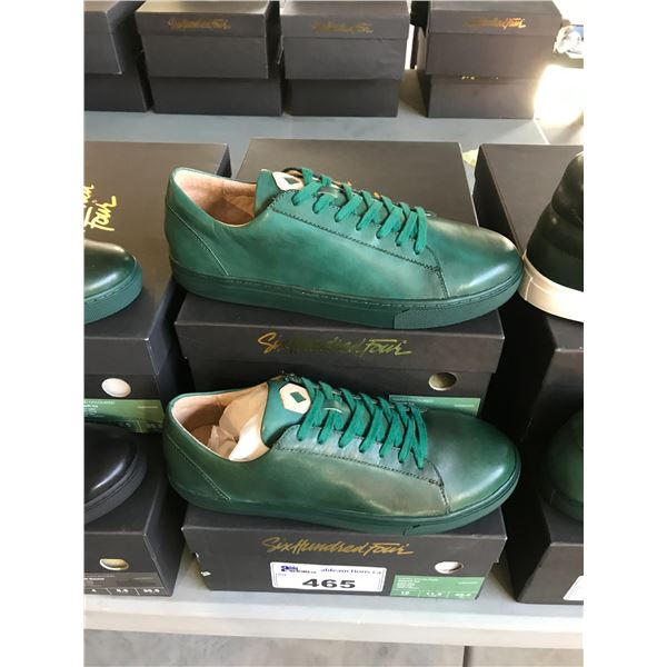 2 SIX HUNDRED FOUR LEATHER UNISEX SHOES SIZE 4 MEN'S IN SMOOTH IVY $300 RETAIL VALUE EACH