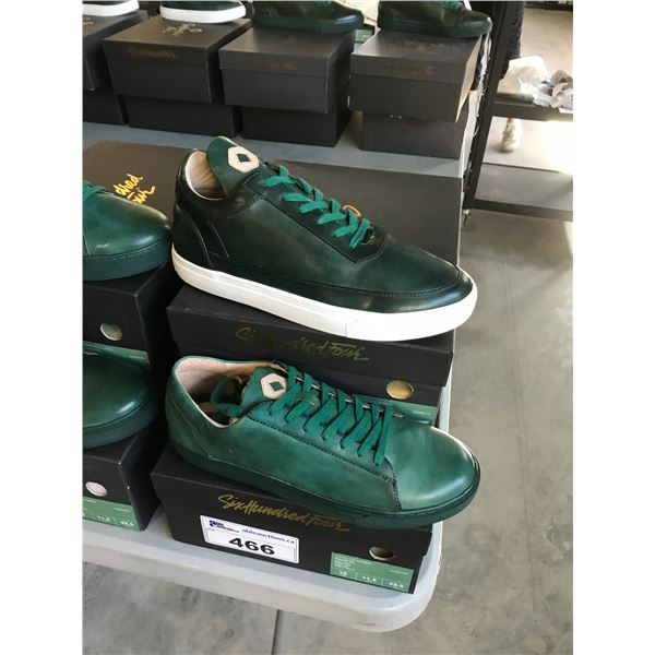 2 SIX HUNDRED FOUR LEATHER UNISEX SHOES SIZE 10 MEN'S IN SMOOTH IVY $300 RETAIL VALUE EACH