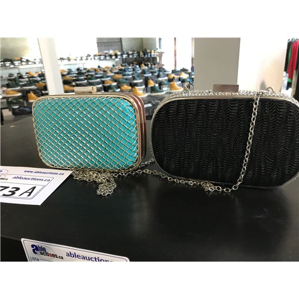 2 EMBELLISHED LADIES CLUTCHES