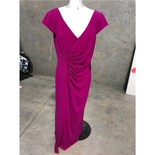 2 DESIGNER DRESSES BY JS BOUTIQUE AND JS COLLECTIONS SIZE 14