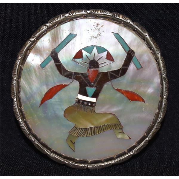 ZUNI INDIAN BUCKLE (ELLIOT QUALO)