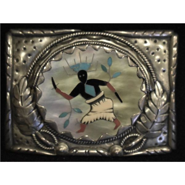 ZUNI INDIAN BUCKLE ( LEONARD LONJOSE)