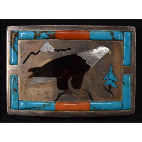 ZUNI INDIAN BUCKLE (ROLAND EASTACE)