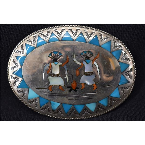 NAVAJO INDIAN BUCKLE (BENJAMIN BECENTI)