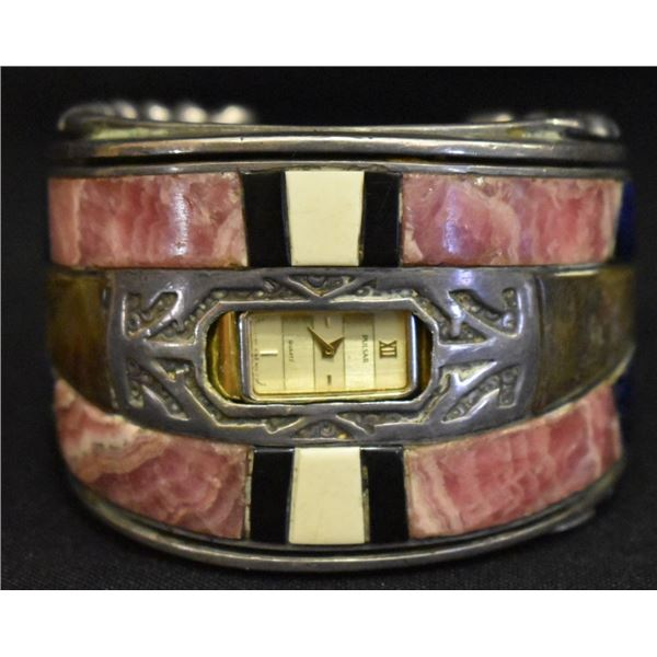 NAVAJO INDIAN WATCH BRACELET (JOHNNY MIKE BEGAY)