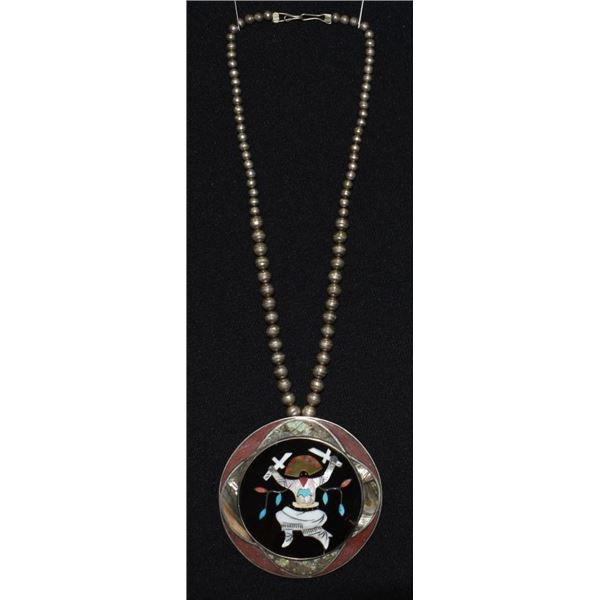ZUNI/ NAVAJO  INDIAN NECKLACE AND PENDENT