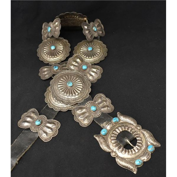 NAVAJO INDIAN CONCHO BELT  (FRED BROWN)