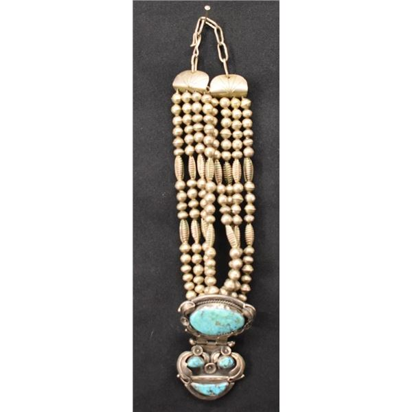 NAVAJO INDIAN NECKLACE (CARL LUTHEY)