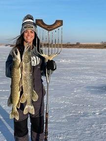 North Dakota Pike Spearing
