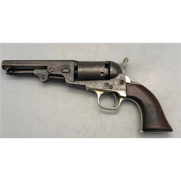 Antique Colt Pocket Pistol, Engraved with London Address