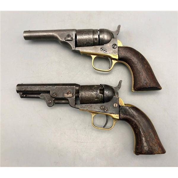 Two Antique Model 1861/1862 Colt Conversion Revolvers