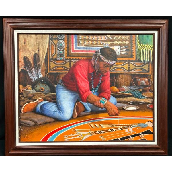 Original Oil Painting by Jimmy Abeita